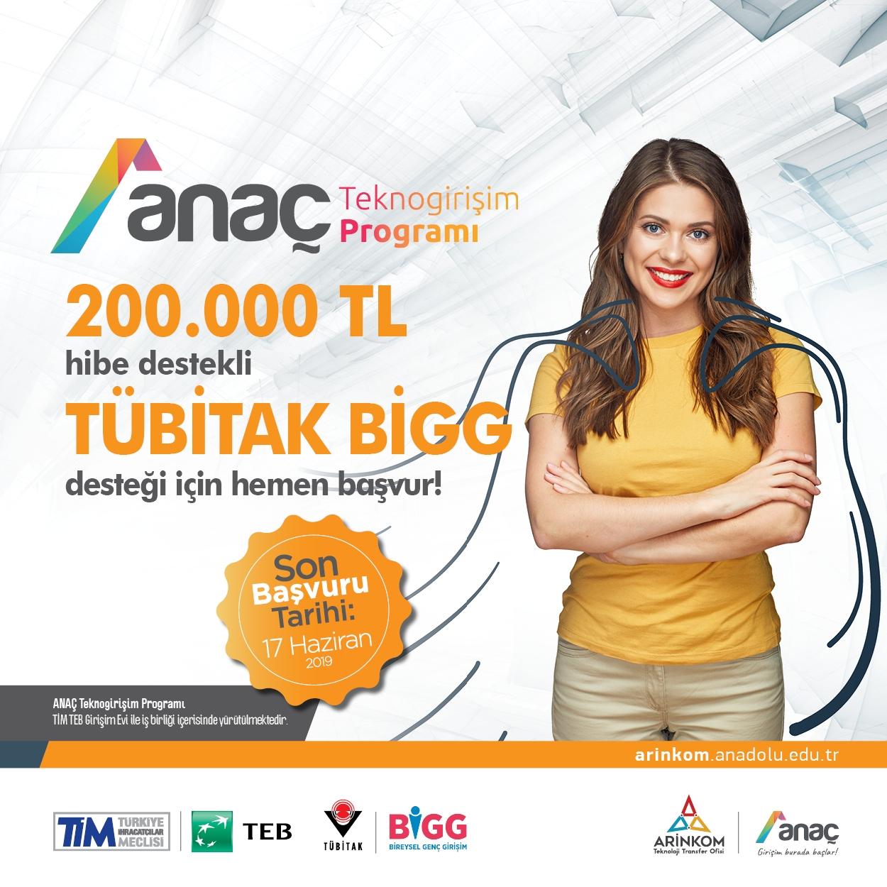 """ANAÇ Teknogirişim Programı""""na başvurular 17 Haziran 2019 tarihine kadar devam edecek."""
